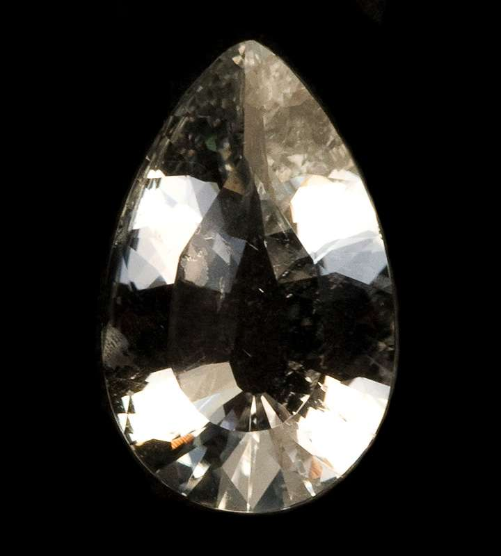 A rare clean relatively large gem colorless goshenite beryl County cut
