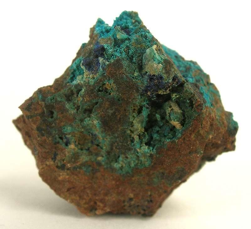 A small specimen rich sparkling light blue crystals lavendulan darker