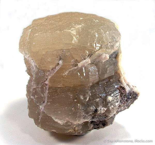 This large fat doubly terminated lustrous translucent witherite