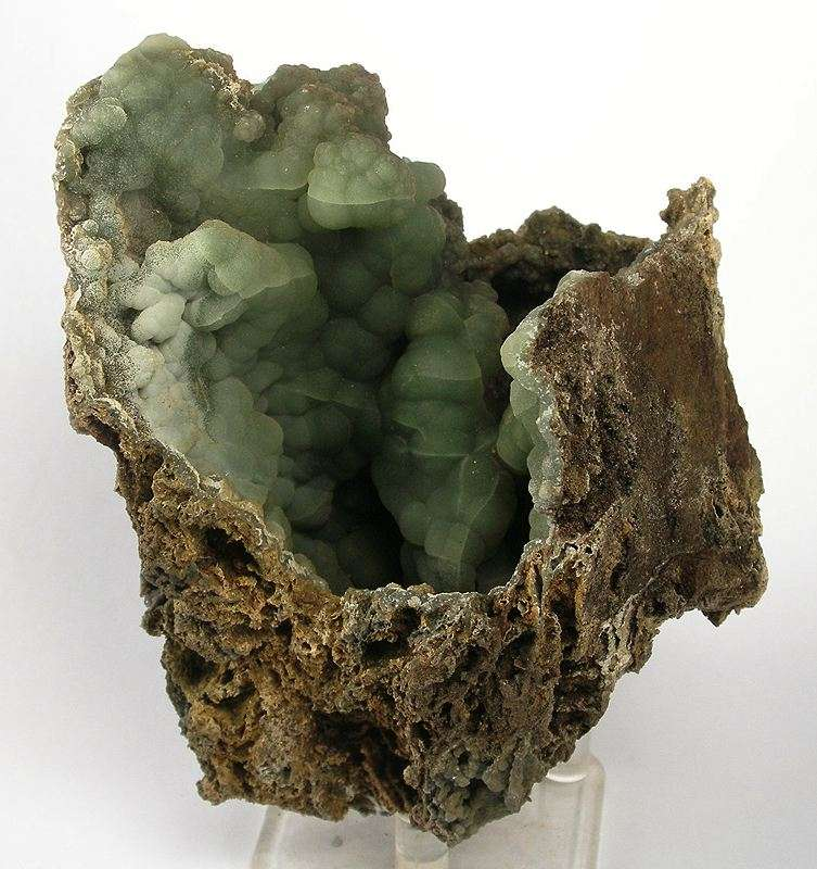 Translucent gray green botryoidal aggregates greenish gray gibbsite 1