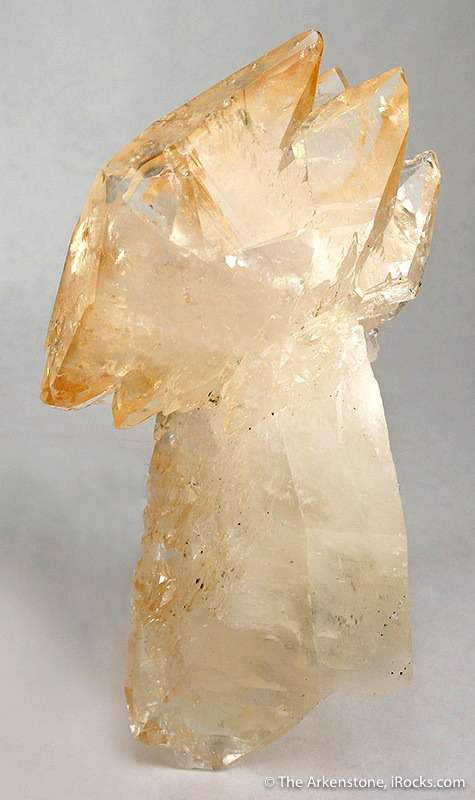 This calcite calcite exhibits twinning great luster multiple