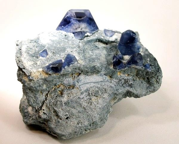 A placed 1 7 cm benitoite crystal highlights beautiful miniature Jaime