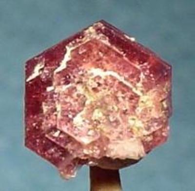 A gemmy showy red beryl rose thumbnail Thomas Range Utah This tabular