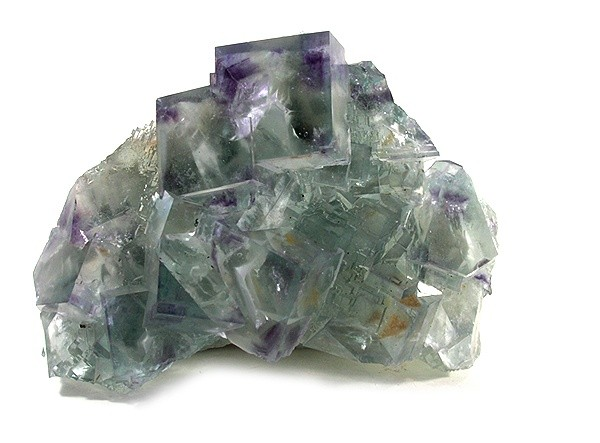RAZOR SHARP LARGE crystals transparent bright green fluorite crystals