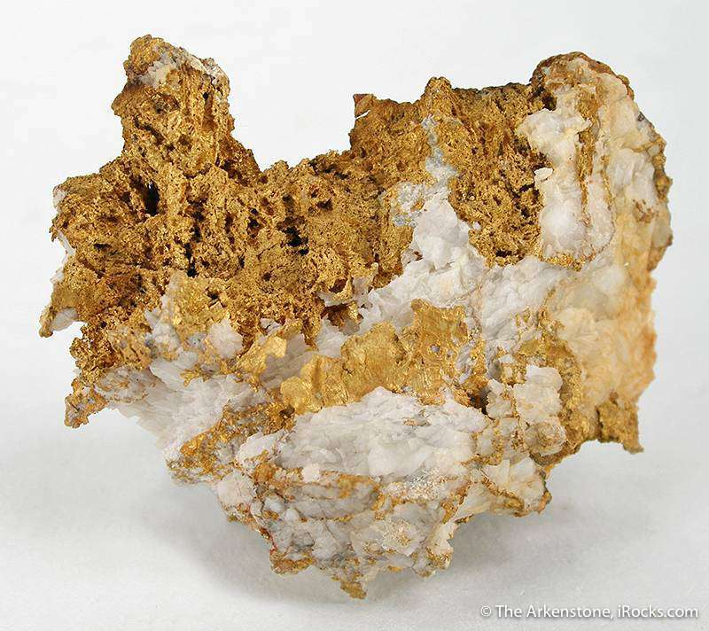 A rare Chinese gold specimen quite rich crudely crystalline gold AND