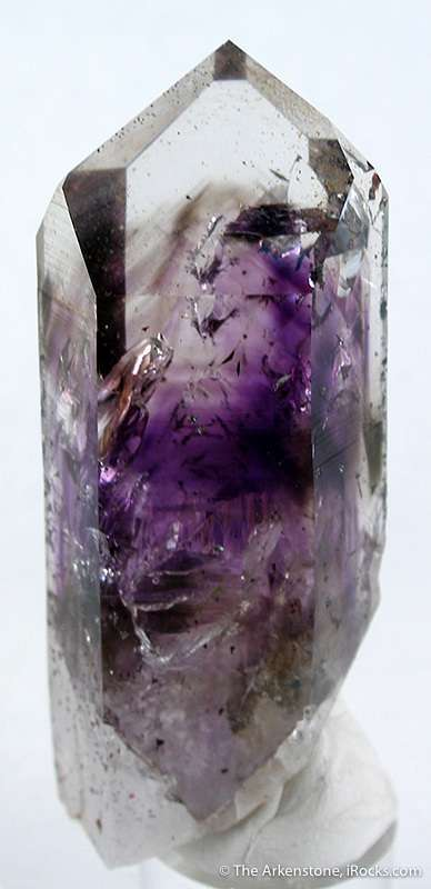 A beautiful gemmy clear quartz crystal amethyst smoky phantoms This