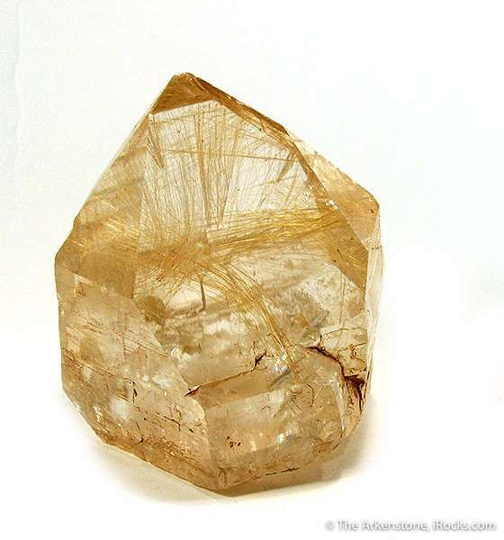 This large colorless transparent quartz crystal richly included sprays