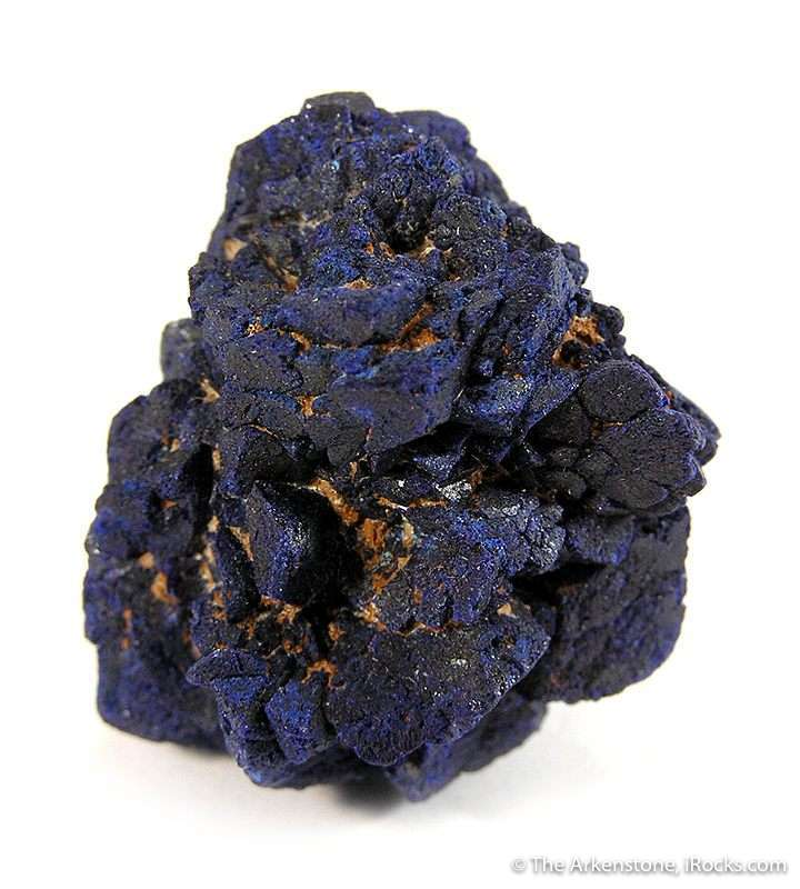 This complete rosette intergrown royal blue lustrous azurite crystals