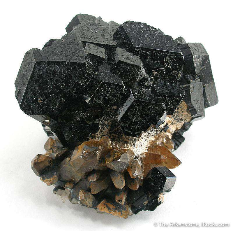A stunning 3 dimensional ball beautiful lustrous schorl crystals