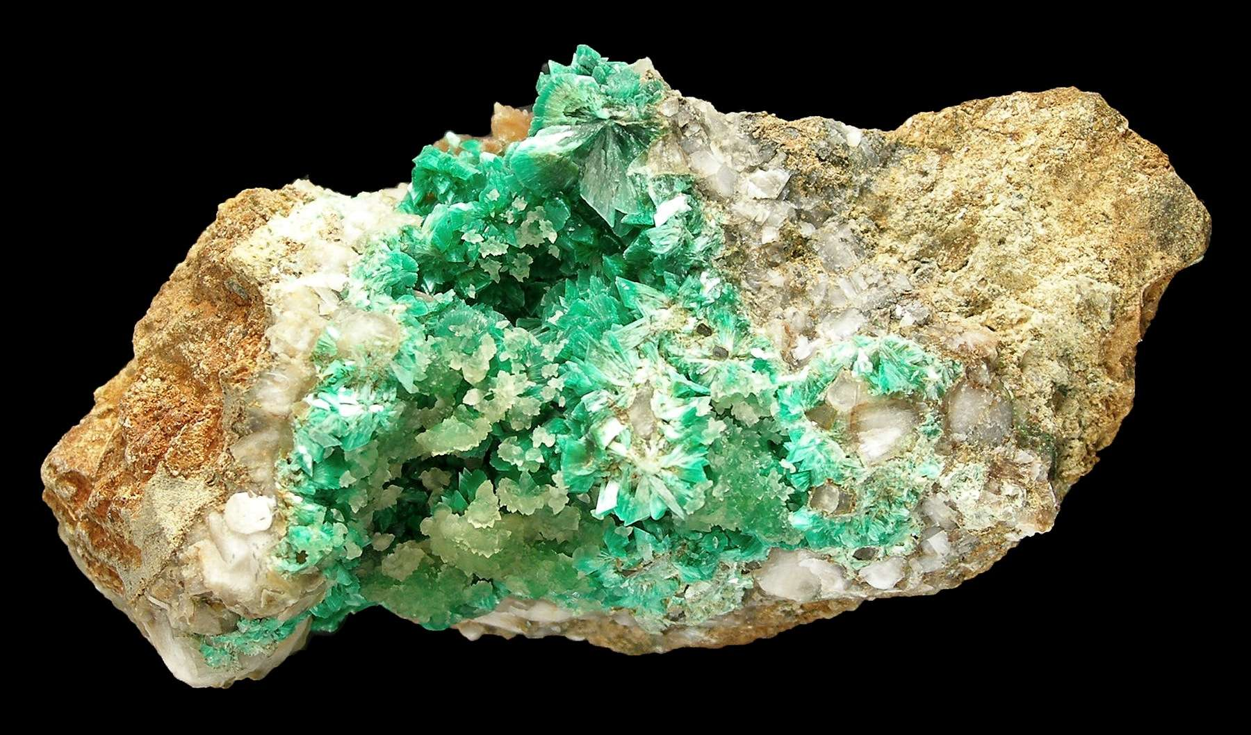 This MAJOR annabergite specimen huge crystal clusters nearly 1 cm