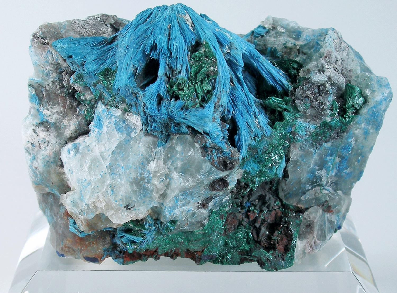 A rare crystallized shattuckite specimen Crystals uncommonly seen