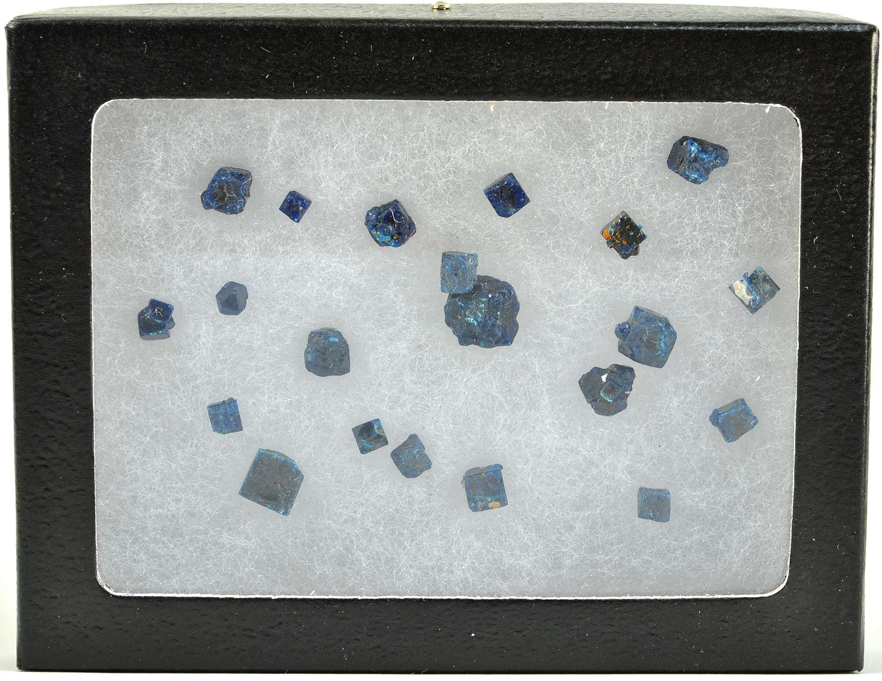 This Ryker Mount box approx 20 crystals varying shapes sizes boleite