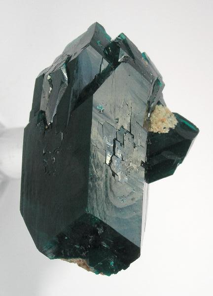 Exceptional 2 9 cm doubly terminated Dioptase older classic locality