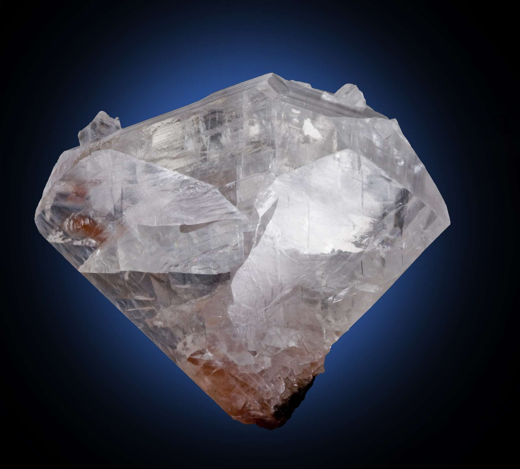 This large classic heart twin calcite exemplifies highest qualities