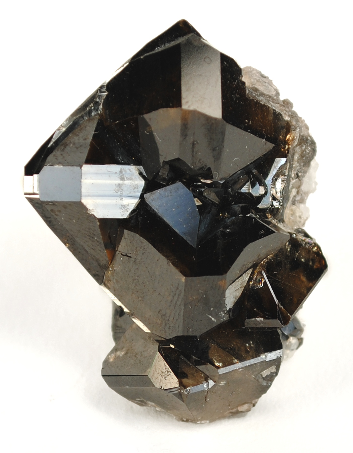 This sharp gemmy translucent crystal cluster showing gemminess luster