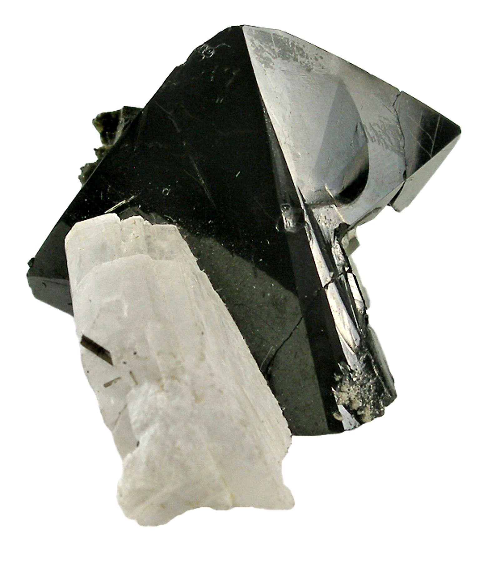 A gorgeous sharp cassiterite crystal jet black color breathtaking