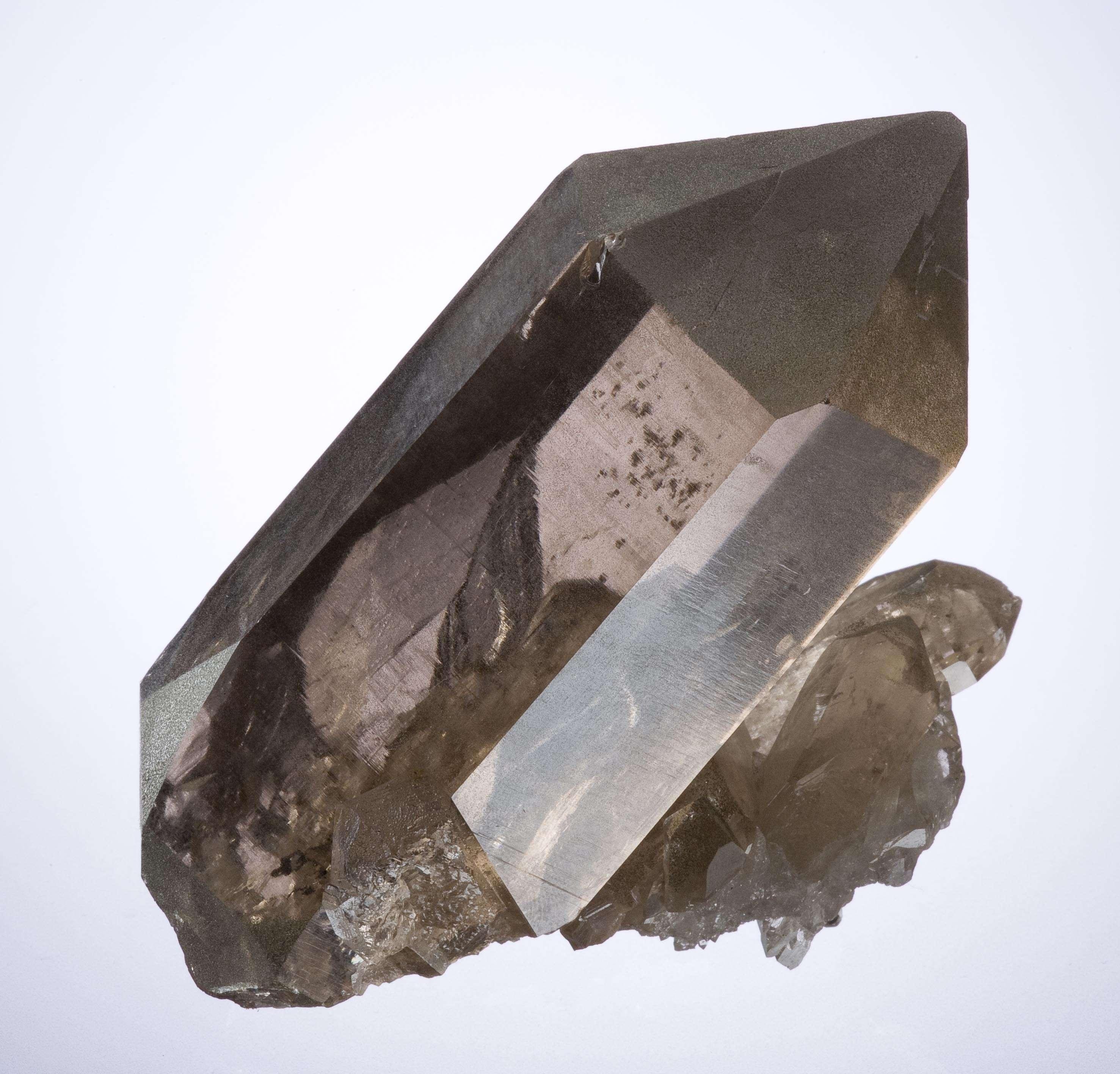 An Italian smoky quartz exceptional clarity unusual locale non