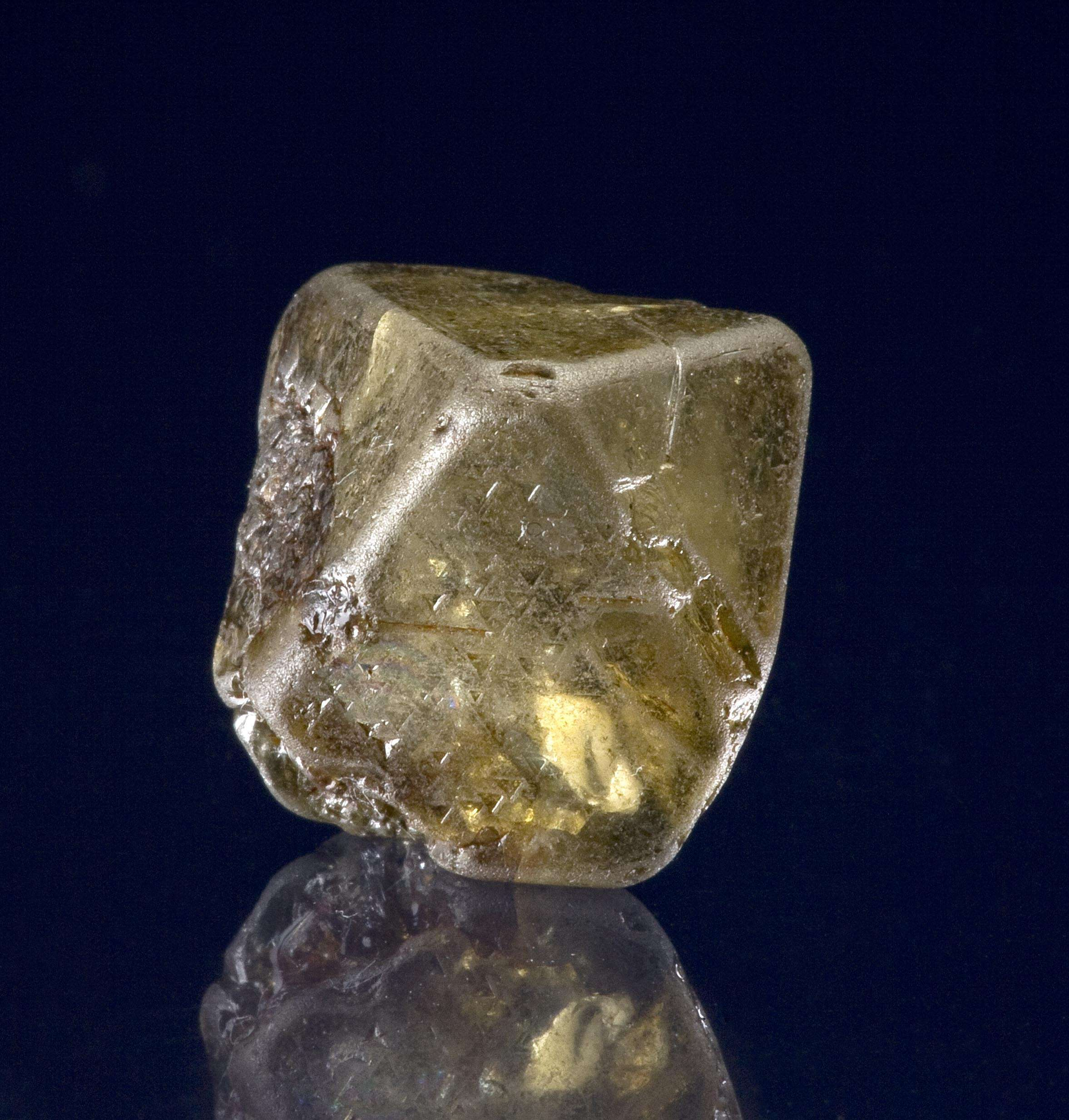 This large natural diamond nearly inch widest tip tip It weighs 42 3