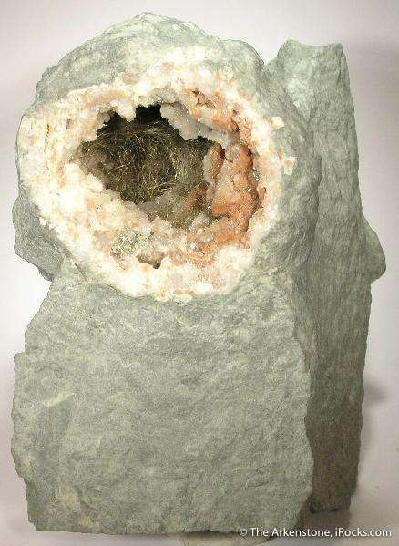 A matrix bound millerite geode measuring 3 5 cm It just fille dwith