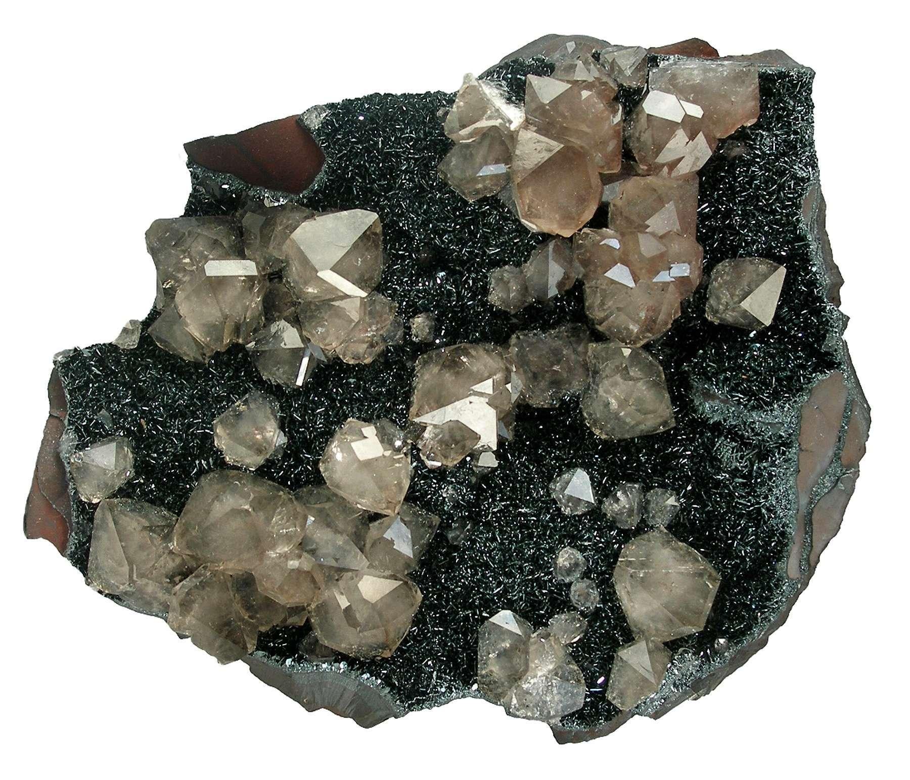 This classic hematite quartz combo specimen England classic old