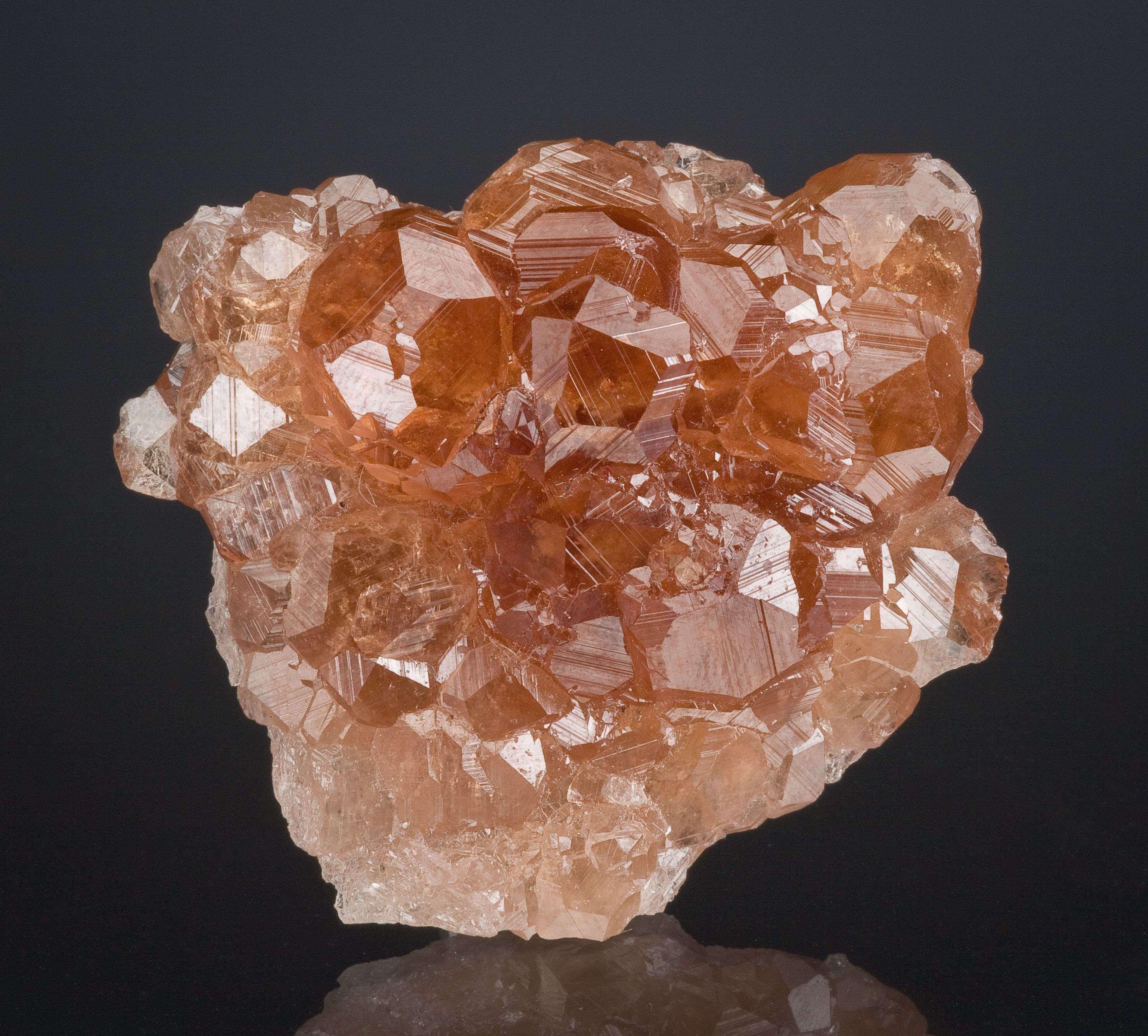 Glassy transparent richly colored garnet crystals 1 5 cm make