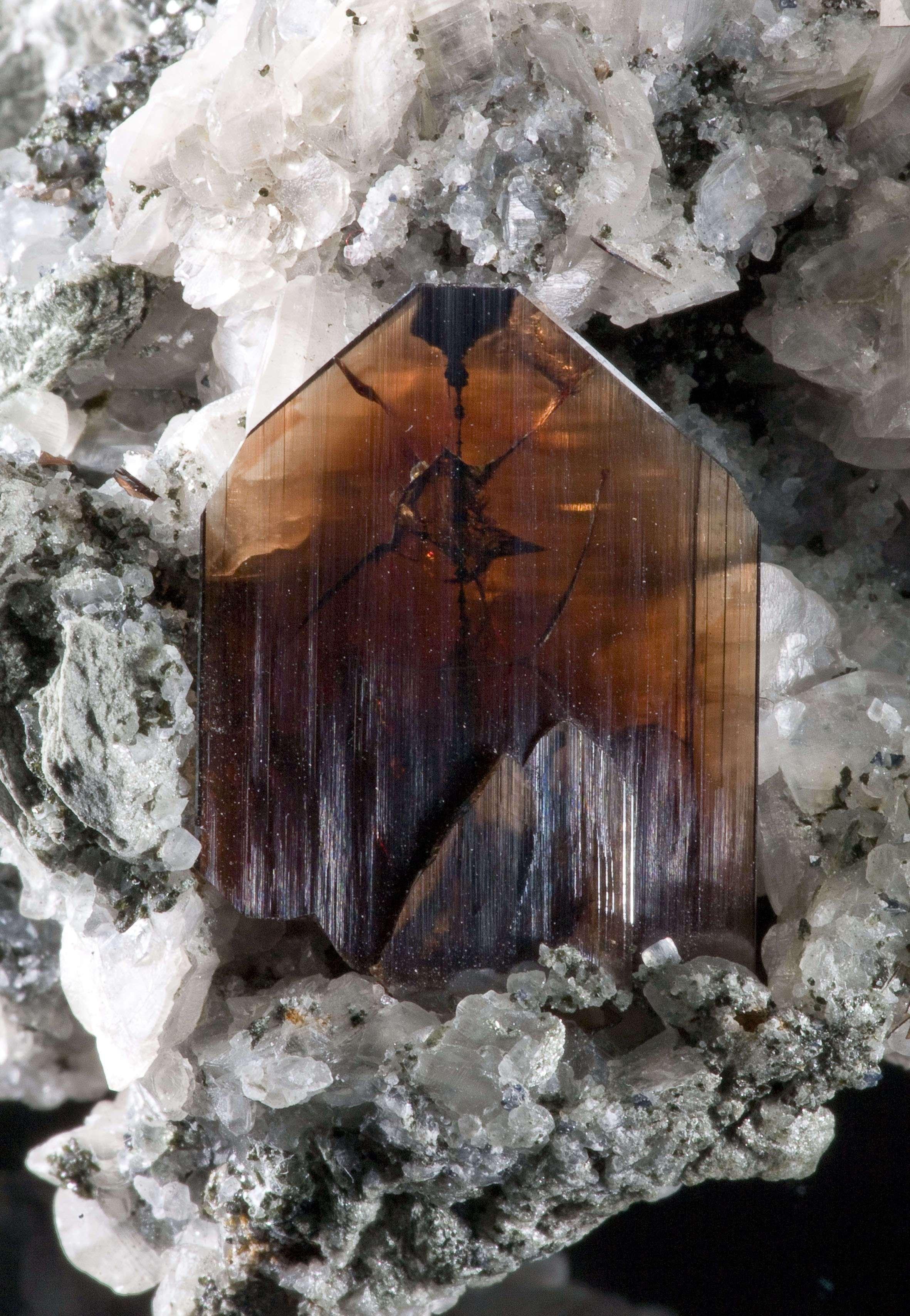 A gorgeous matrix piece 2 5 cm tall brookite standing straight