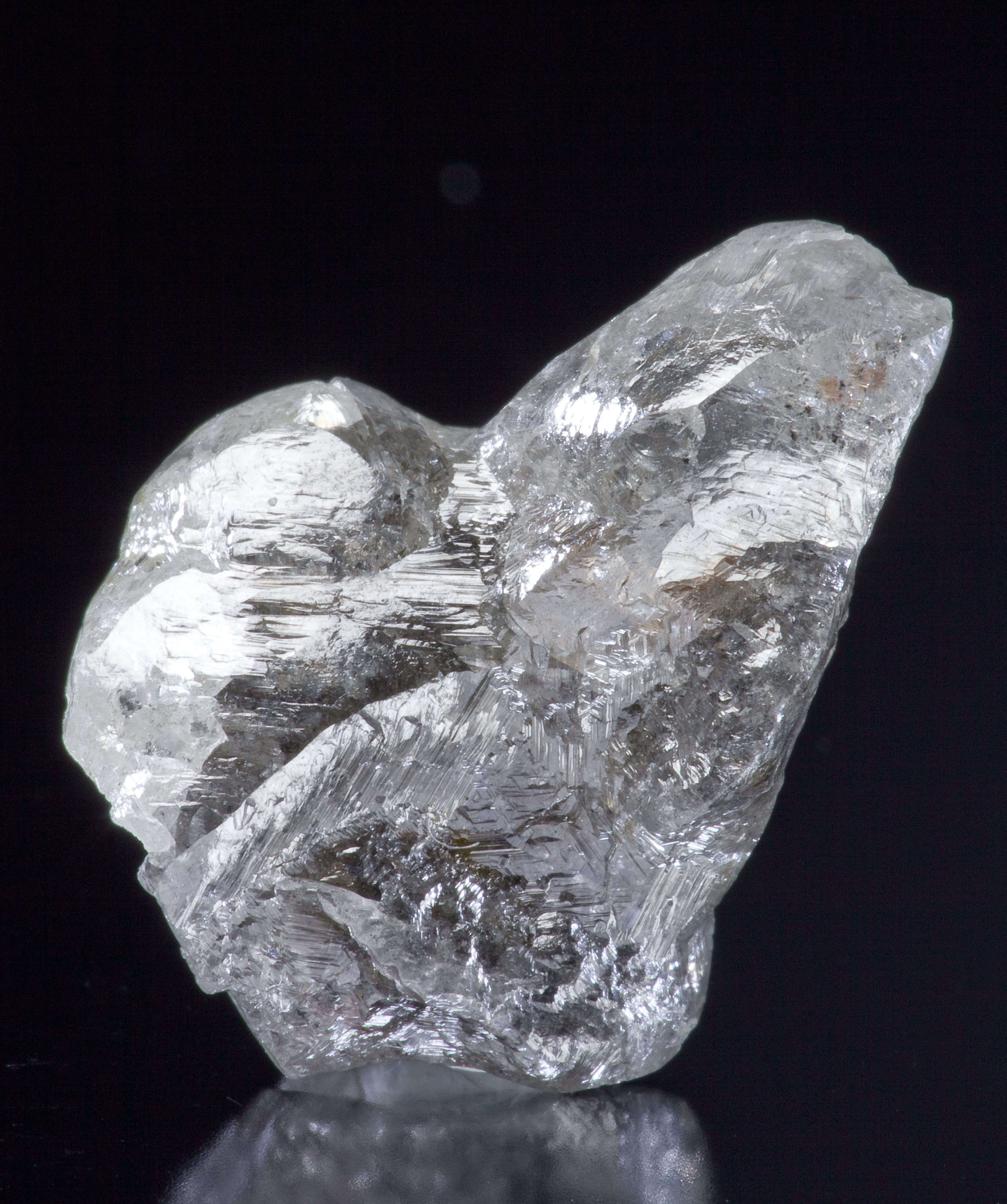 A rare locality piece This relatively large gemmy diamond showing