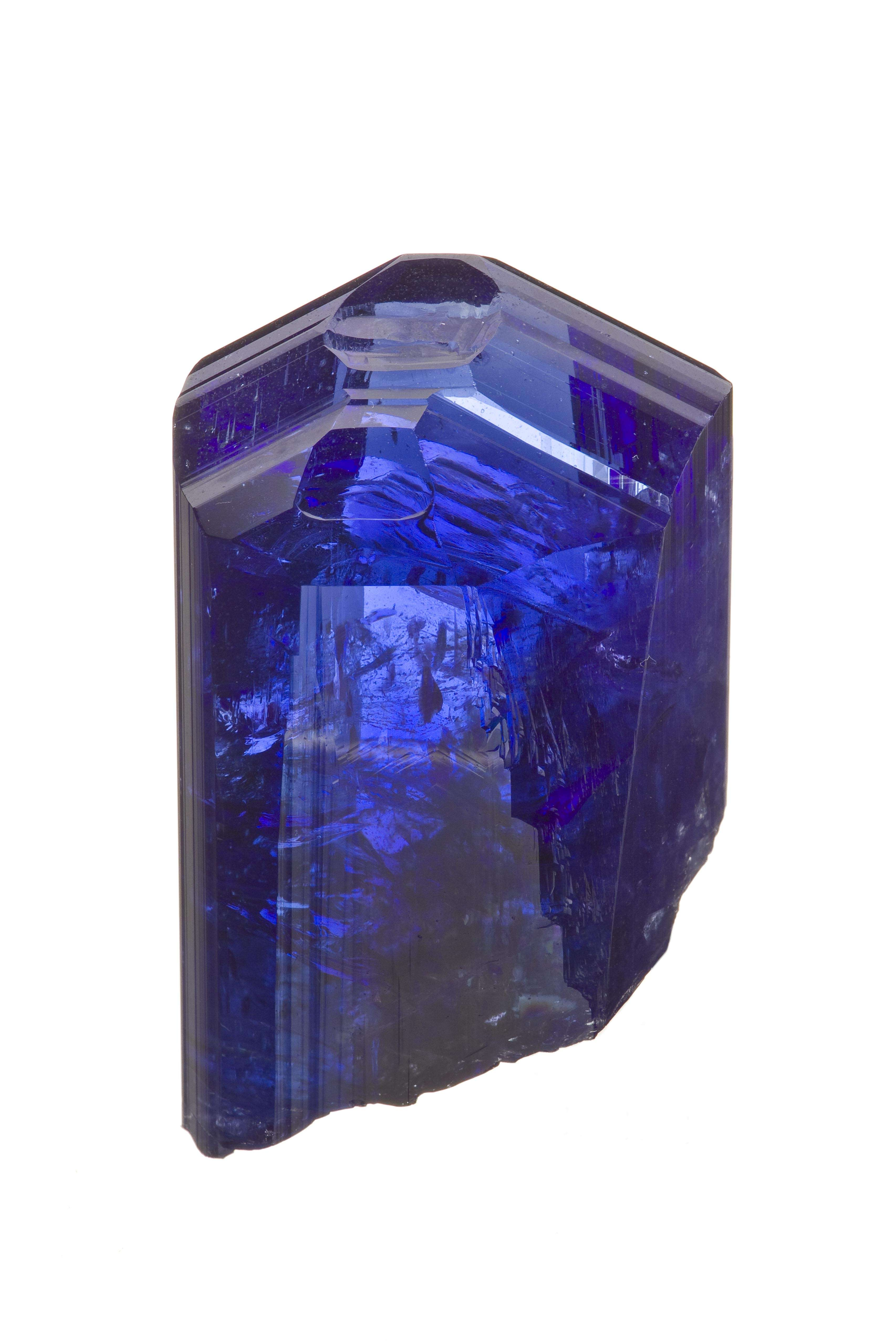 A stunningly intense deep blue crystal natural unheated The piece