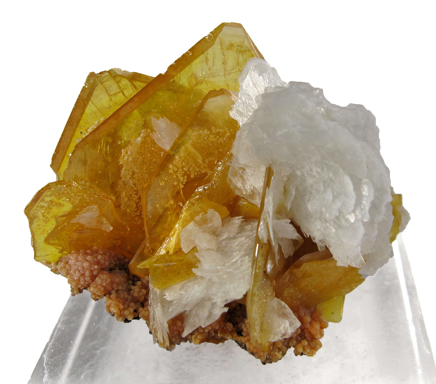 A cute miniature mid 1970s finds The bladed crystals white Baryte