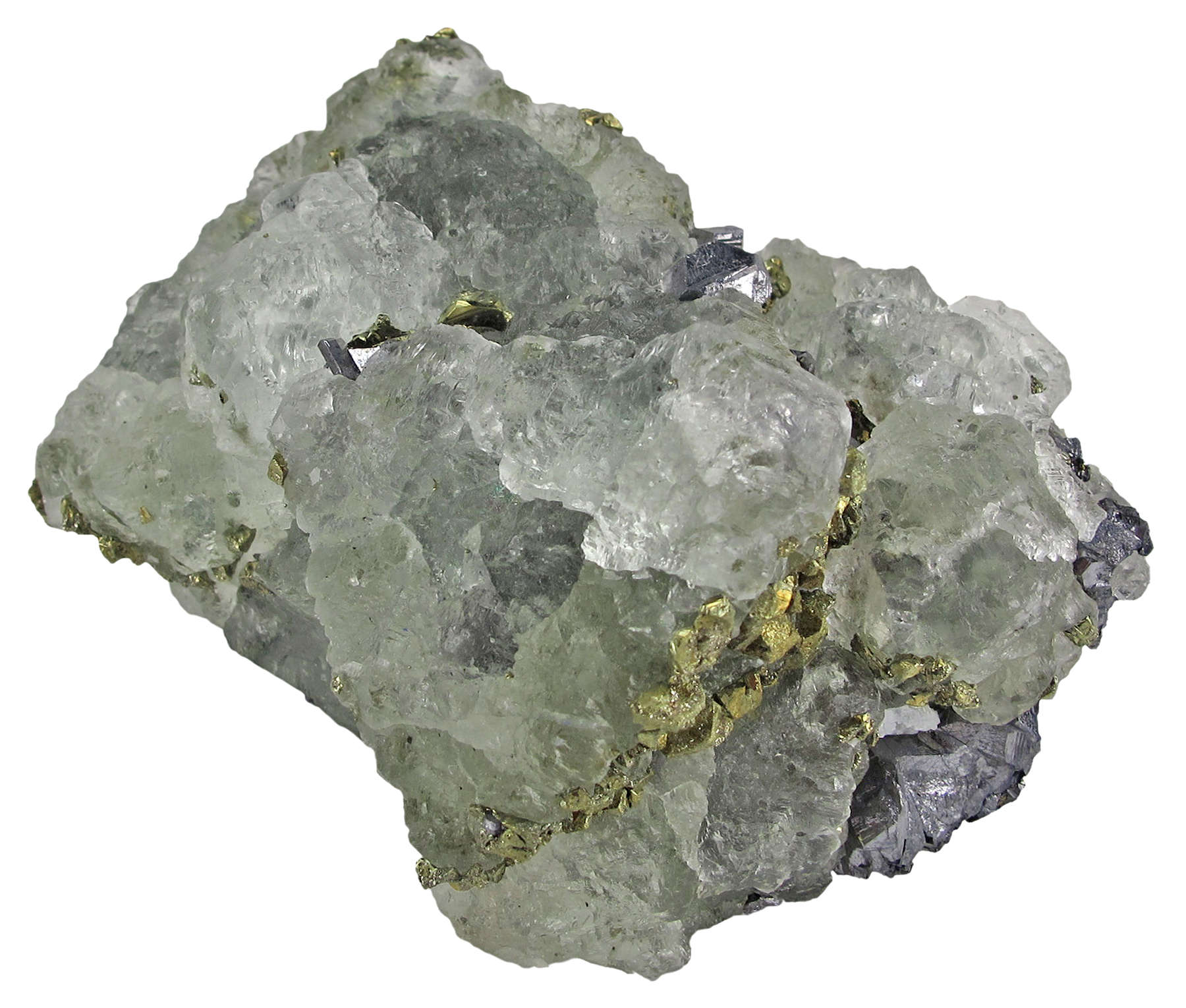 Large octahedrons 6 cm lustrous translucent light green fluorite