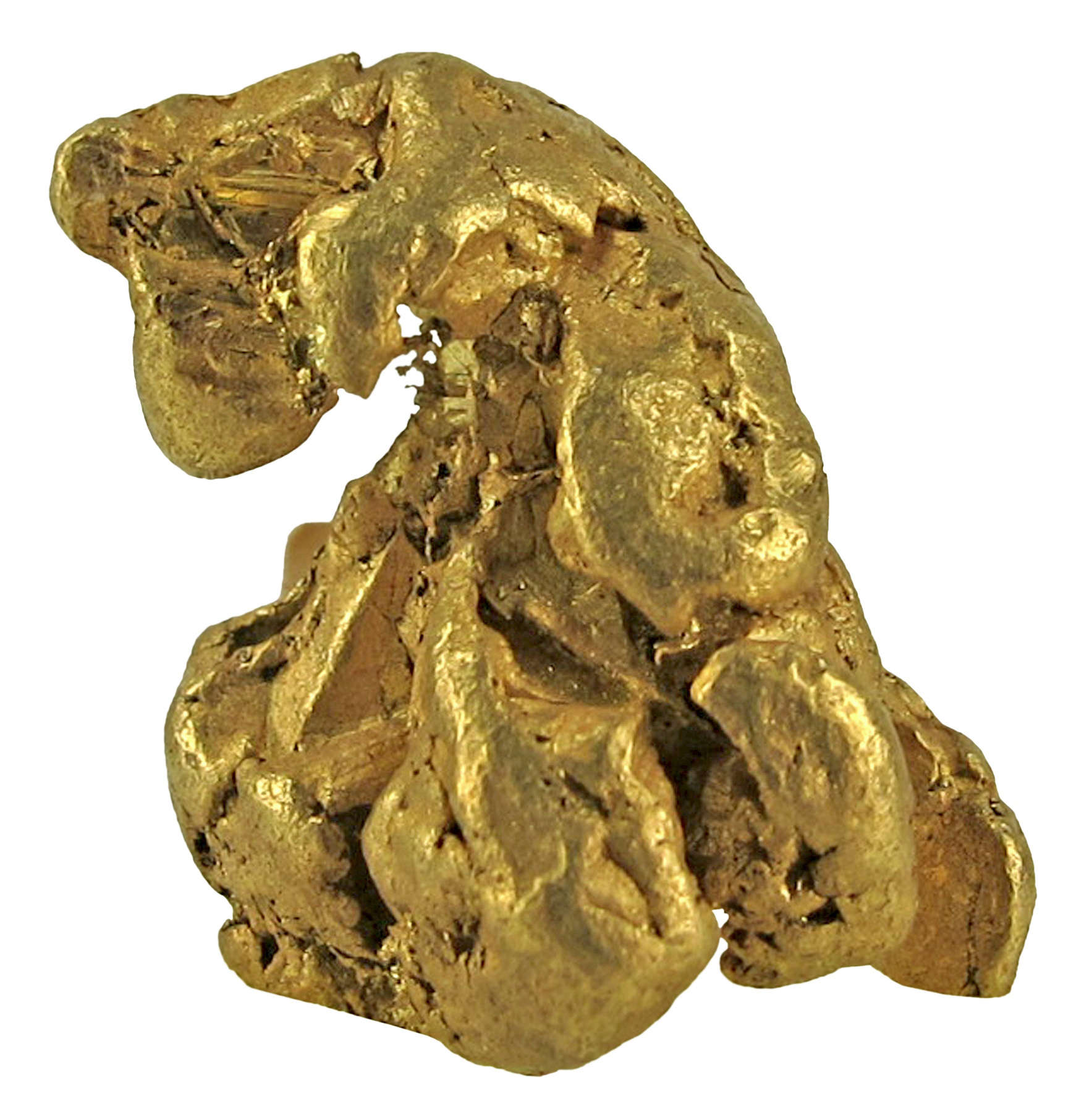 A fine baroque Russian gold nugget sharp casts showing form original