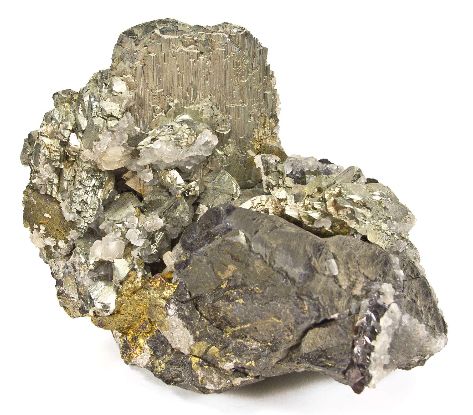 A lustrous yellowish metallic crystal arsenopyrite measuring 4 cm