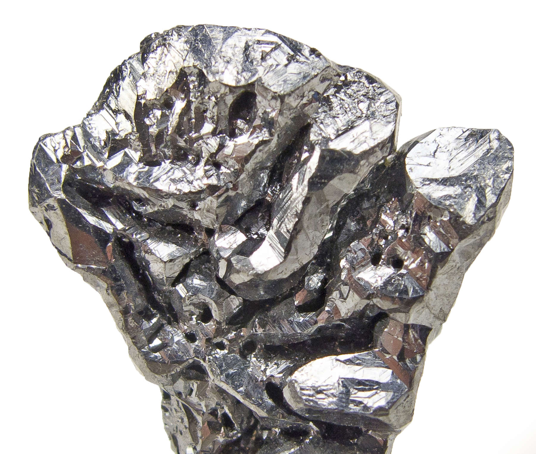 Stacked crystals 8 mm splendent dark gray acanthite aesthetically