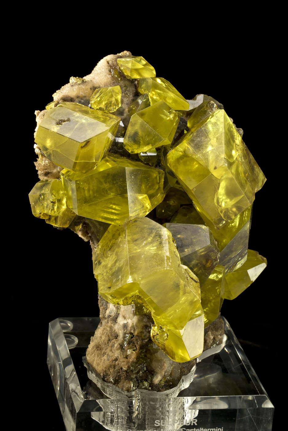 Sunburst Yellow Sulfur | iRocks Fine Minerals |Sulfur Mineral