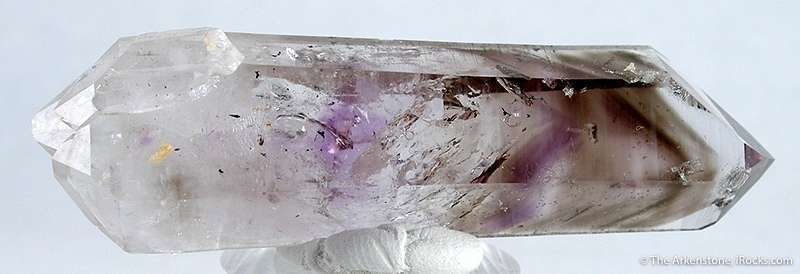 Cute doubly terminated amethyst smoky included quartz small water