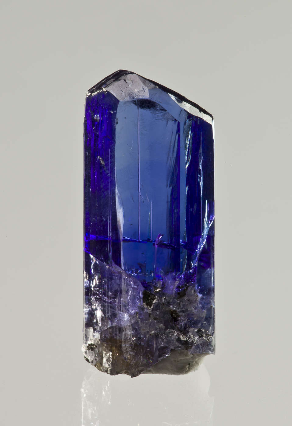 Complete perfect This vibrant GEM tanzanite crystal total clarity 80