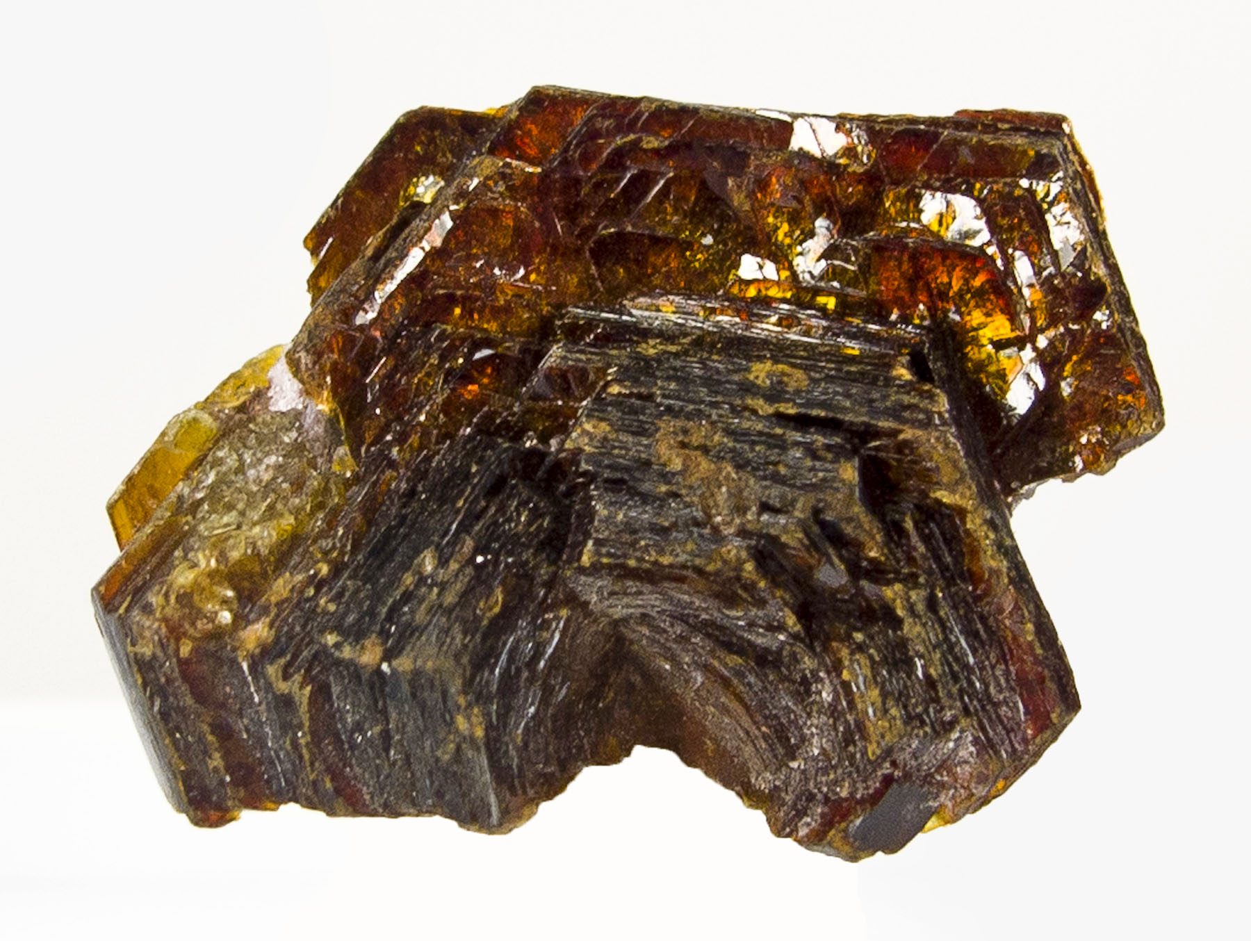 Spectacular metallic iridescent large crystals shigaite important