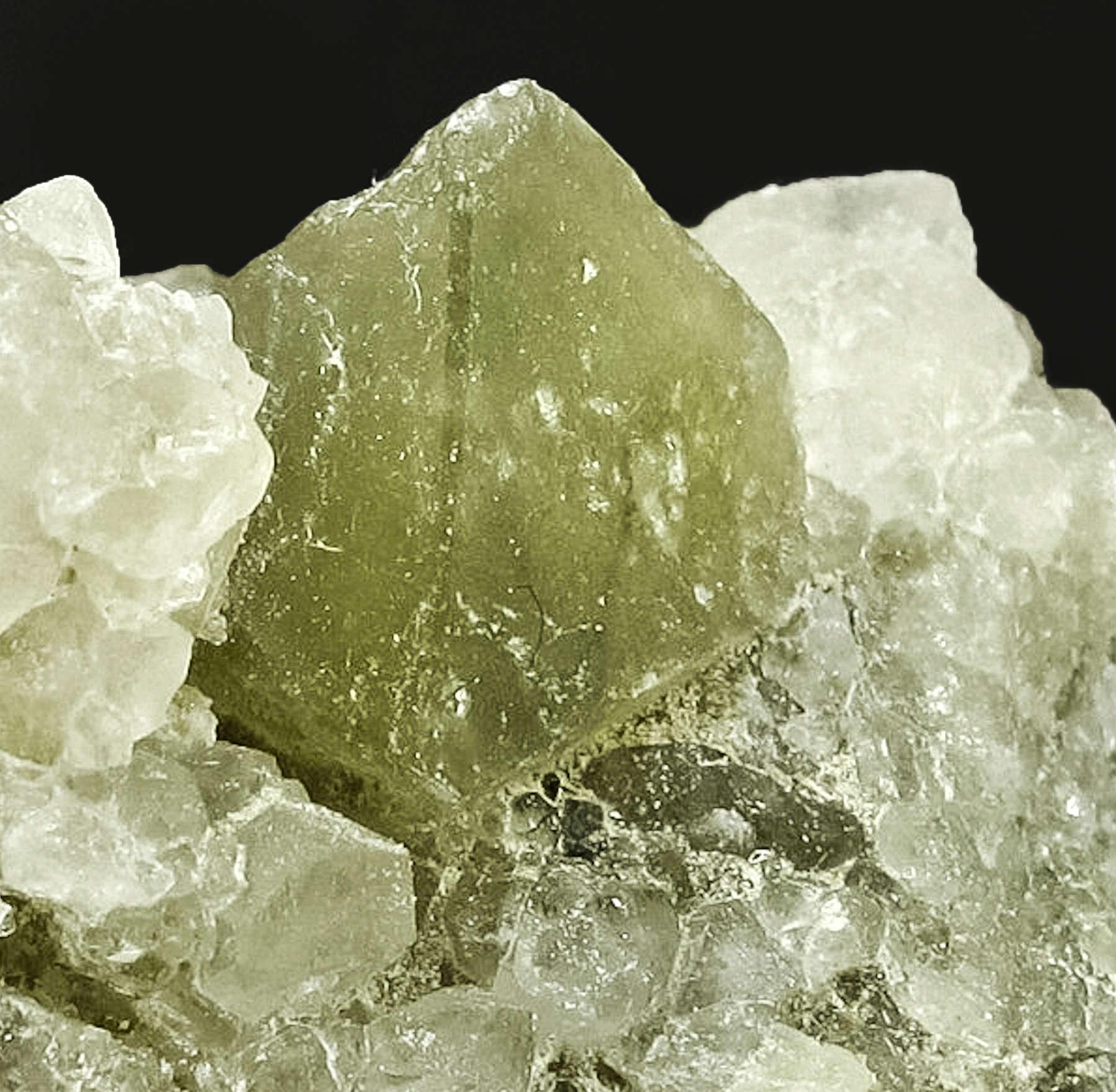 Nestled aesthetically vug borax crystals octahedron lustrous