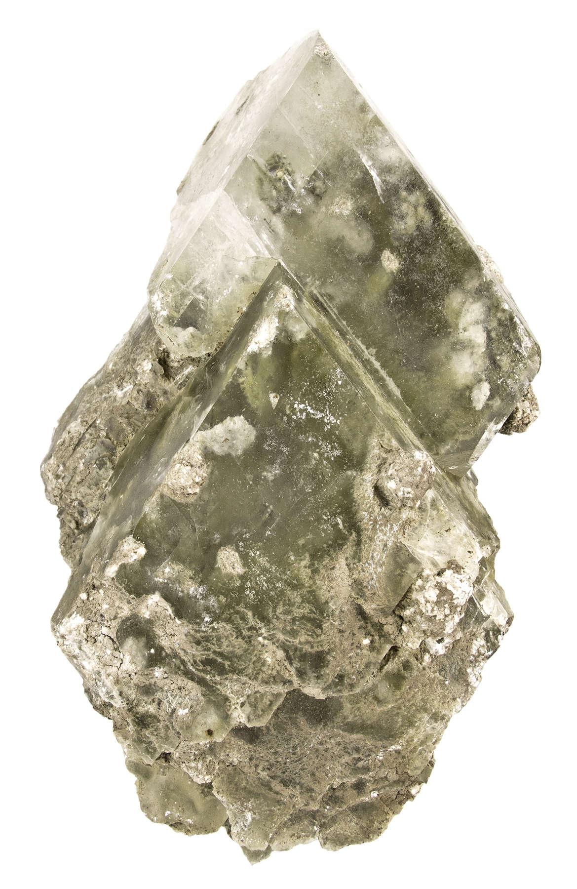 Two large crystals kurnakovite magnesium rich borate emplaced matrix