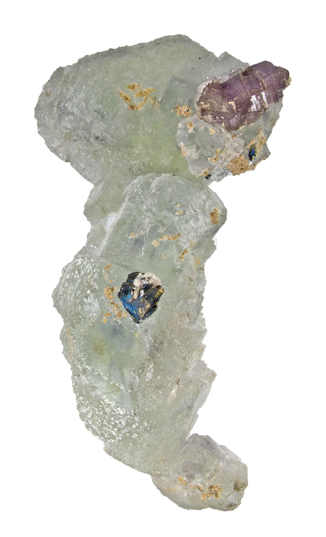 A highly unusual fluorite ANY locality snakelike cluster intergrown