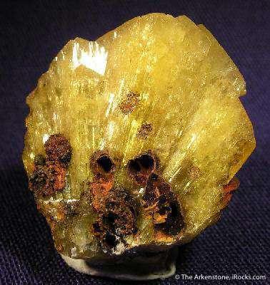 Splendid fan thick intergrown Adamite crystals world