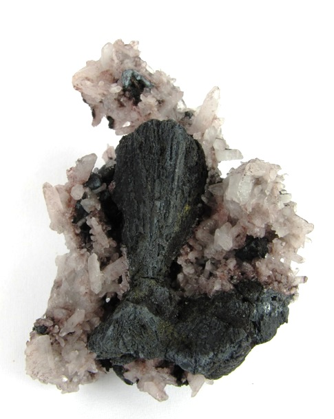 A unusual attractive pseudomorph The main black crystals appear