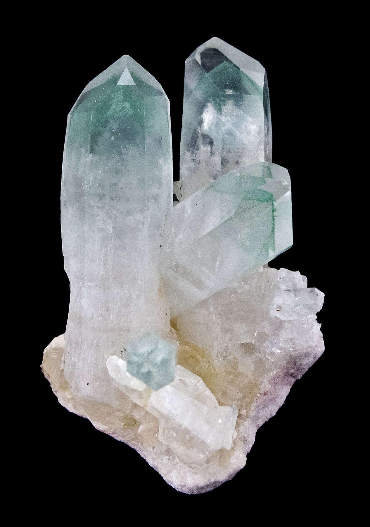 Emplaced matrix milky quartz lustrous translucent gemmy colorless