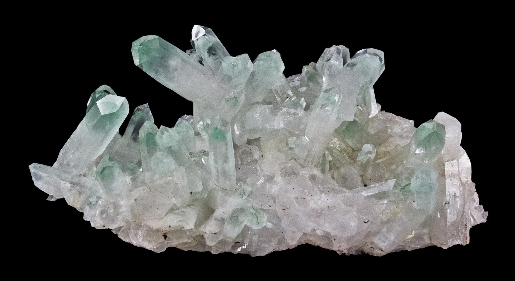 One largest matrix plates lustrous translucent gemmy quartz crystals 4