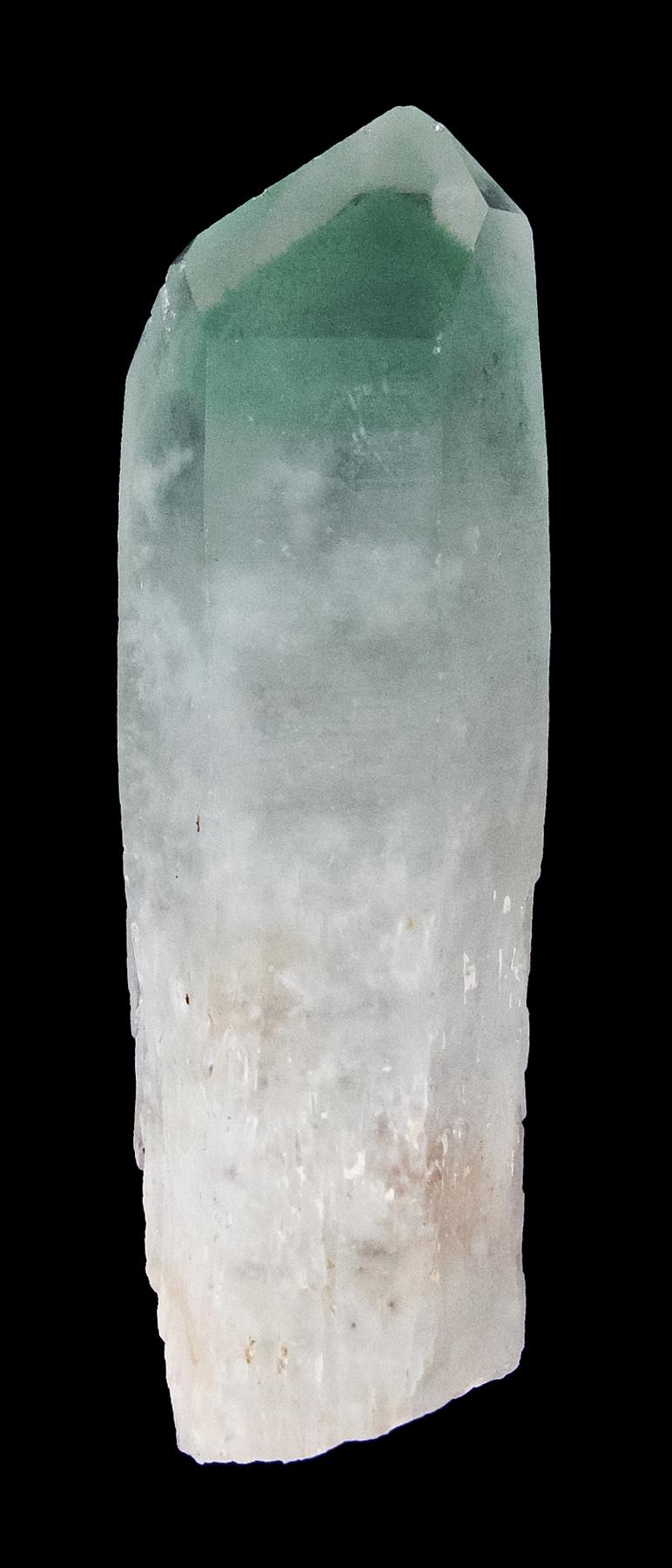 This quartz crystal lustrous translucent gemmy superb fuchsite phantom