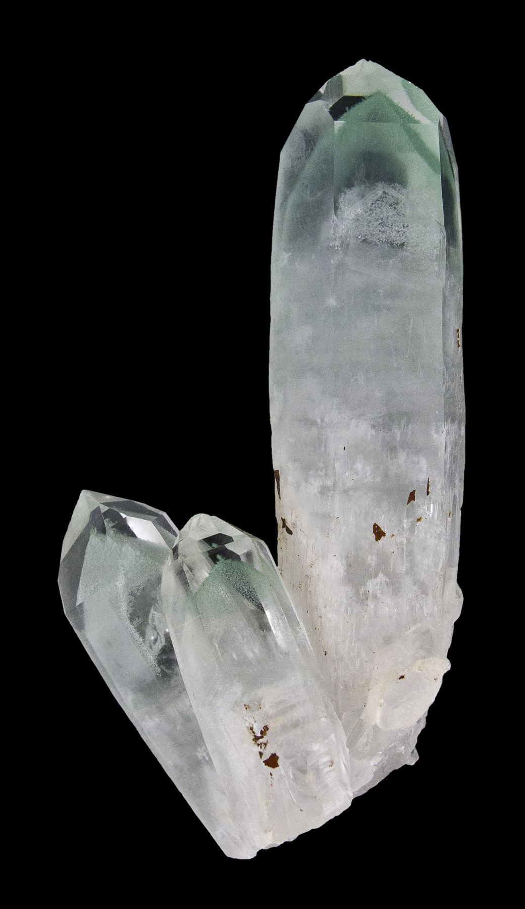 This cluster comprised outstanding vertical quartz crystal measuring 6