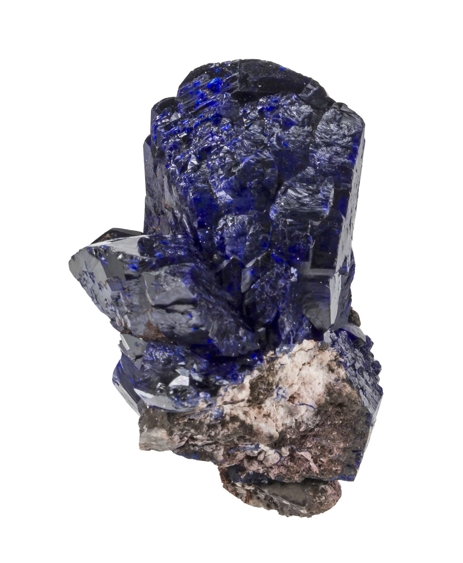 This miniature matrix azurite great luster deep blue color typical