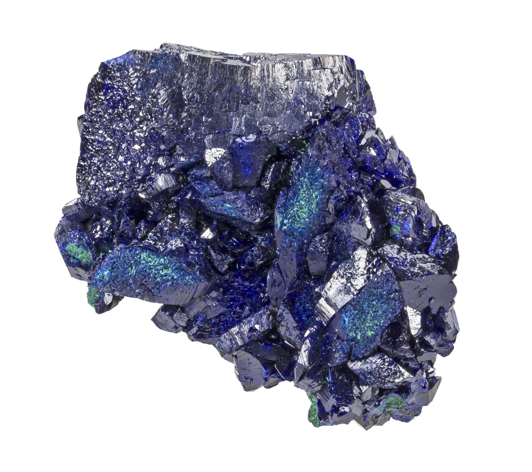 A fine Milpillas azurite Complete hints malachite piece great deep