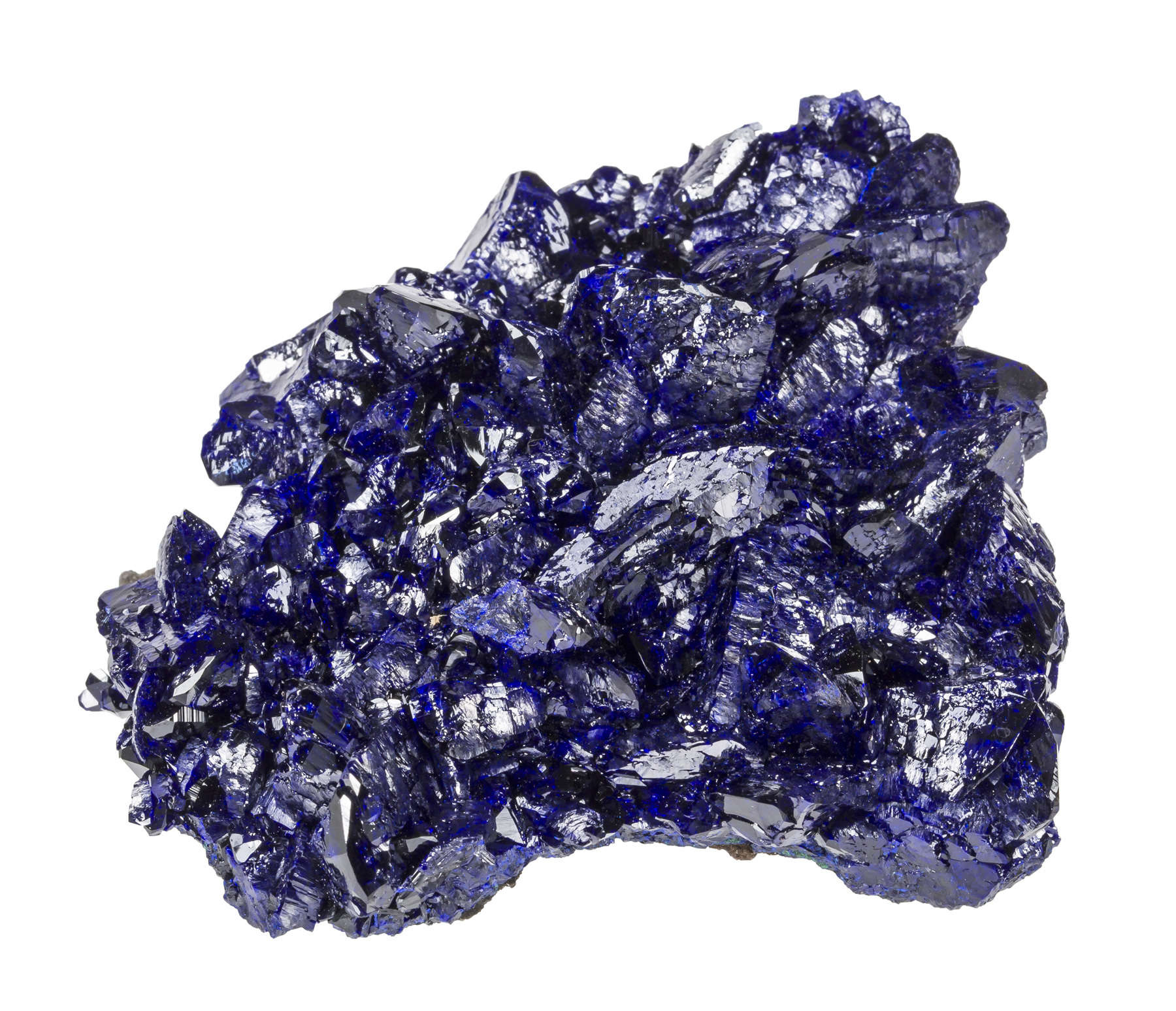 Beautiful highly lustrous azurite combines great deep blues bright