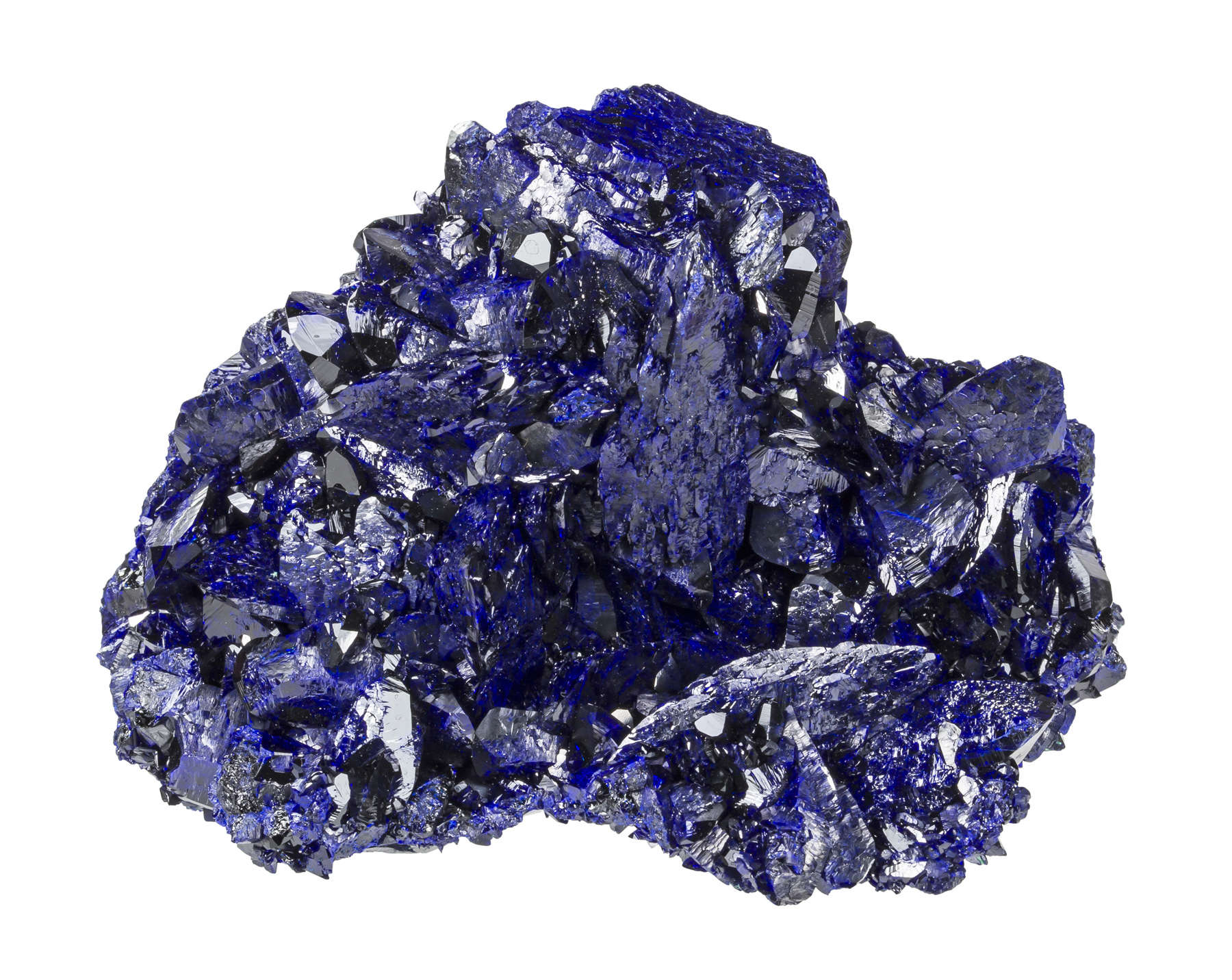 This desirable Milpillas azurite high luster great color The deep
